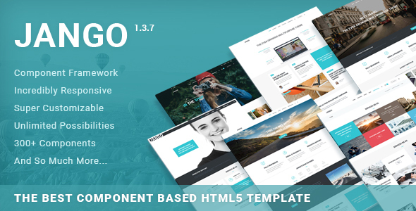 3. Jango | The Best Component Based HTML5 Template