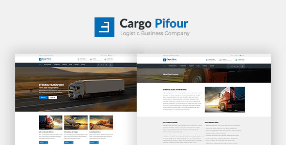 Cargo Pifour - Logistic and Transportation Psd Template