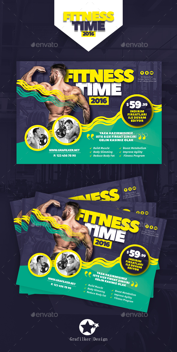 Fitness Time Flyer Templates