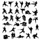 Martial Art Silhouettes