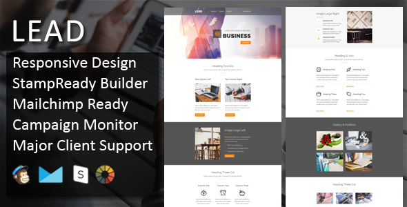 LEAD - Multipurpose Responsive Email Template + Stampready Builder