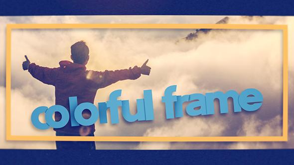 Värikäs Frame - Special Events Video Näyttää After Effects Project Files