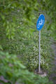 cycling/biking path sign in a park