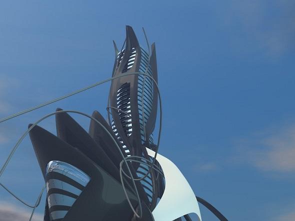 Sci-Fi Building - 3DOcean Item for Sale
