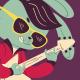 Rockabilly Bunny Playing Guitar