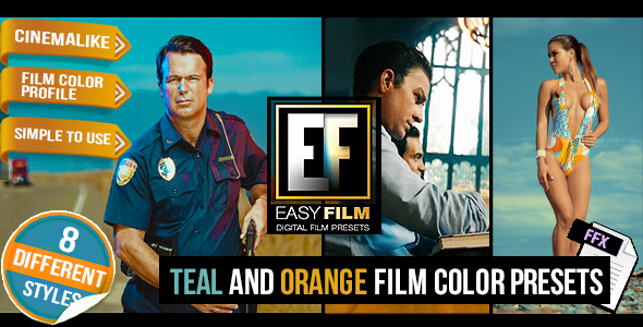 VideoHive Easy Film Professional Footage Color Presets 16439028