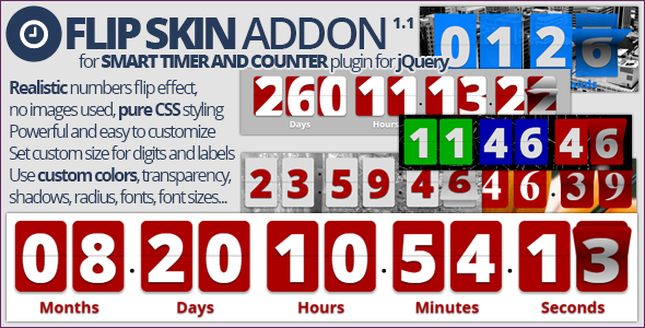 Smart Timer And Counter: Flip Skin Addon