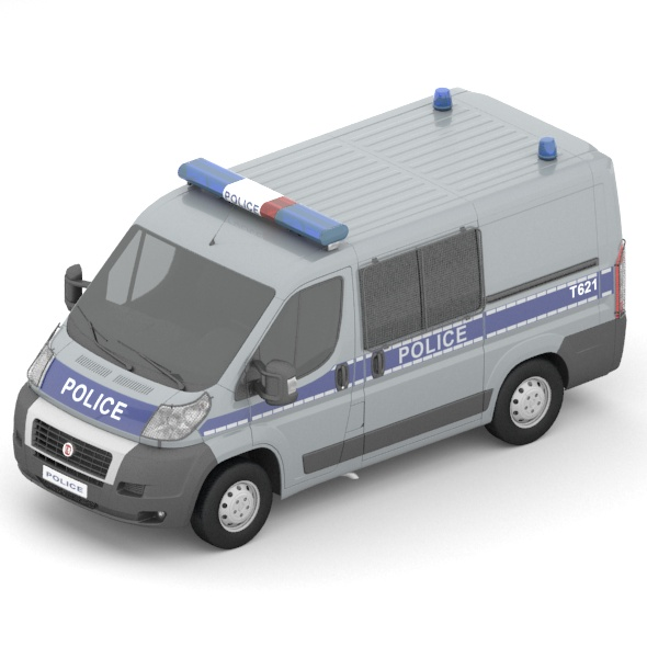 Fiat Ducato police car - 3DOcean Item for Sale
