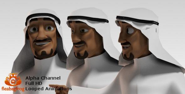 Arabian Man Pack - Cartoons Elements Motion Graphics