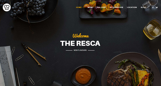 Awesome Food Menu Templates for Joomla