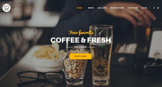 Top Best Premium Restaurant Website Templates Joomla 2016