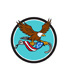 Retro American Eagle Clutching Hook with Flag