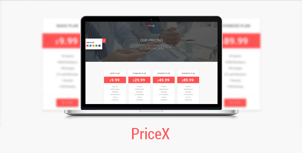 Pricex material design pricing table set jogjafile for Material design table css
