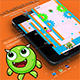 Monster Fall - iOS - Android - iAP + ADMOB + Leaderboards + Chartboost