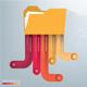 Minimal Folder infographic Design