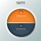Minimal 2 Circle infographic Design