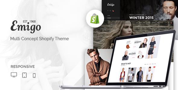 Emigo – Multi Concept Shopify Theme (Shopify)