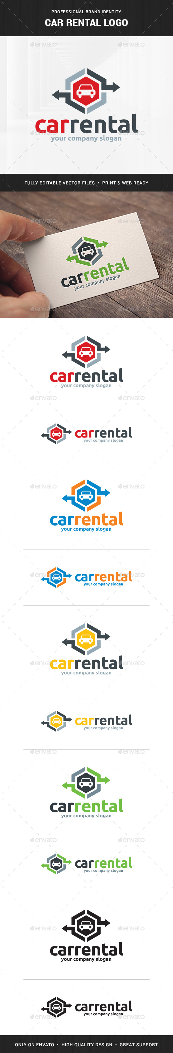 Car Rental Logo Template