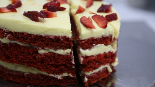 One Piece of Red Cake - Food Arkistofilmit