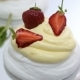 Mint On Pavlova Cake Dessert