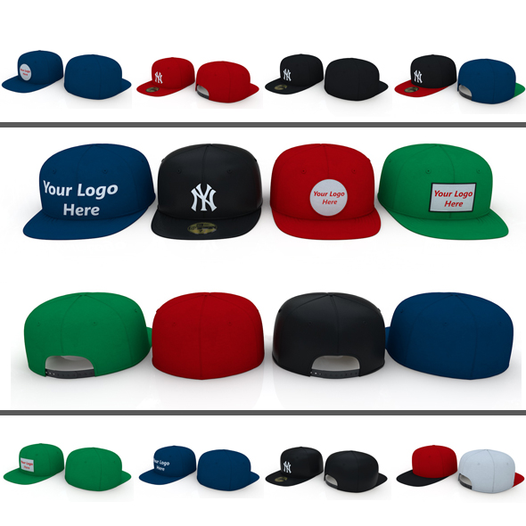 Baseball Caps - 3DOcean Item for Sale
