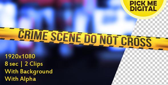 Crime Scene Tape Version 05 - 3D, Object Elements Motion Graphics