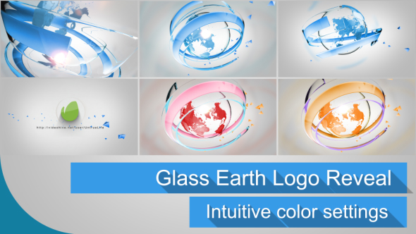 VideoHive Glass Earth Logo Reveal 16455412