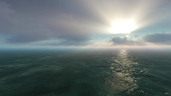 Tropical Sun And The Ocean With Moving Clouds - Taustat Luonnosta Motion Graphics