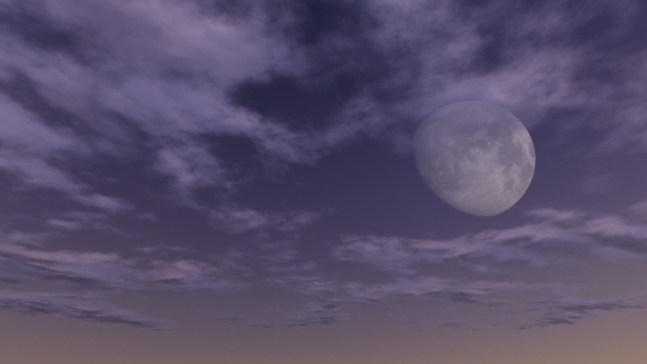 Moon In The Clouds - Sky, Clouds Taustat Motion Graphics