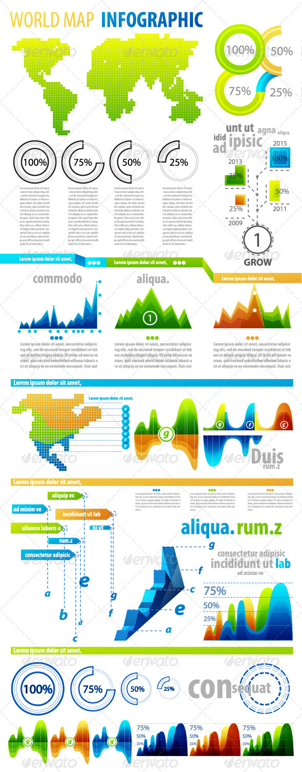GraphicRiver Big set of infographic elements 1644384