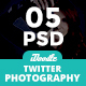 Photography Twitter Header - 05 PSD