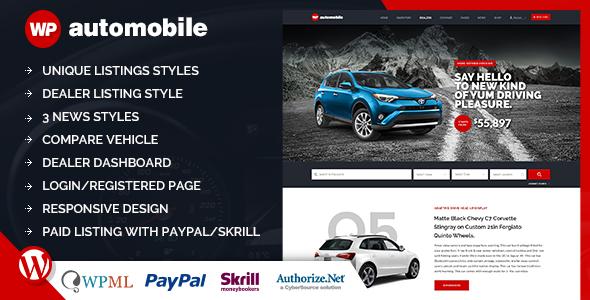 AutoMobile   Responsive Car Dealer WordPress Theme
