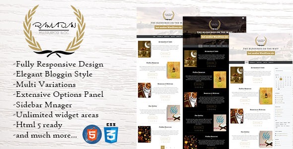 Download Ramadan - Dynamic WordPress Theme nulled download