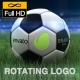Rotating Logo On Soccer Ball