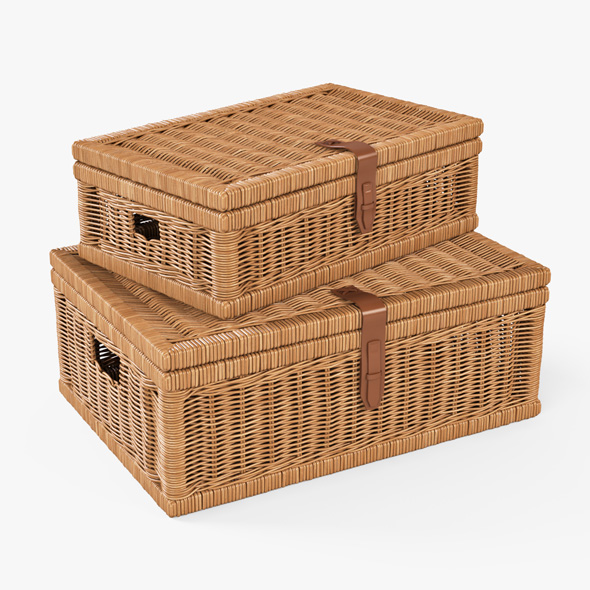 Wicker Basket 06 (Toasted Oat Color) - 3DOcean Item for Sale