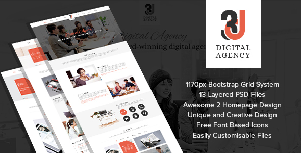 3D Digital Agency - Multi Purpose Creative Template.