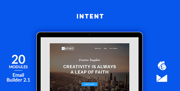 Intent Email Template + Online Emailbuilder 2.1