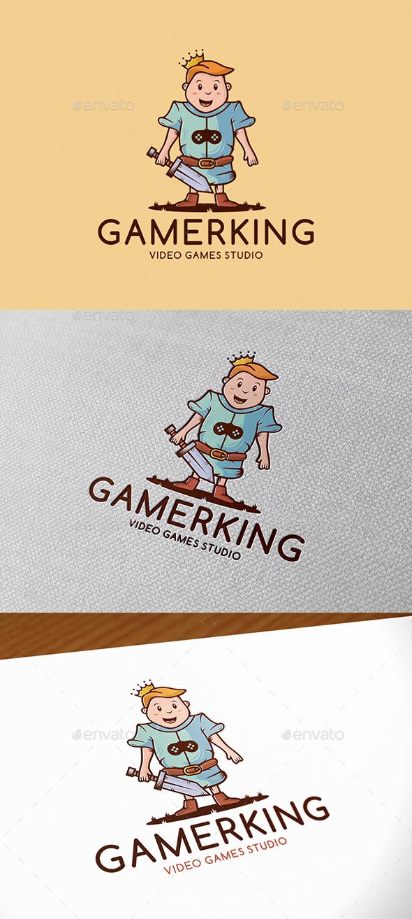 Gamer King Logo Template
