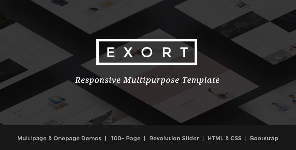 Exort - Responsive Multipurpose HTML Template