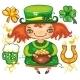 St. Patrick's Day leprechaun set series - GraphicRiver Item for Sale