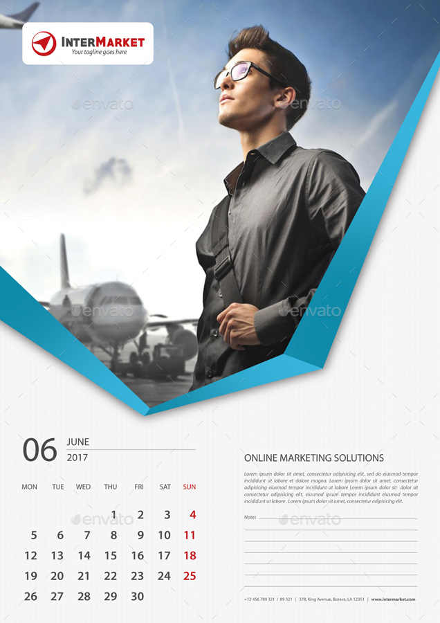 Corporate Calendar 2017 : Corporate wall calendar v by rapidgraf graphicriver
