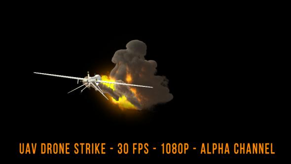 UAV Drone Strike - 3D, Object Elements Motion Graphics