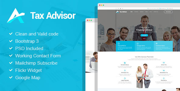Download Tax Advisor - Financial Consulting/Attorney HTML Template