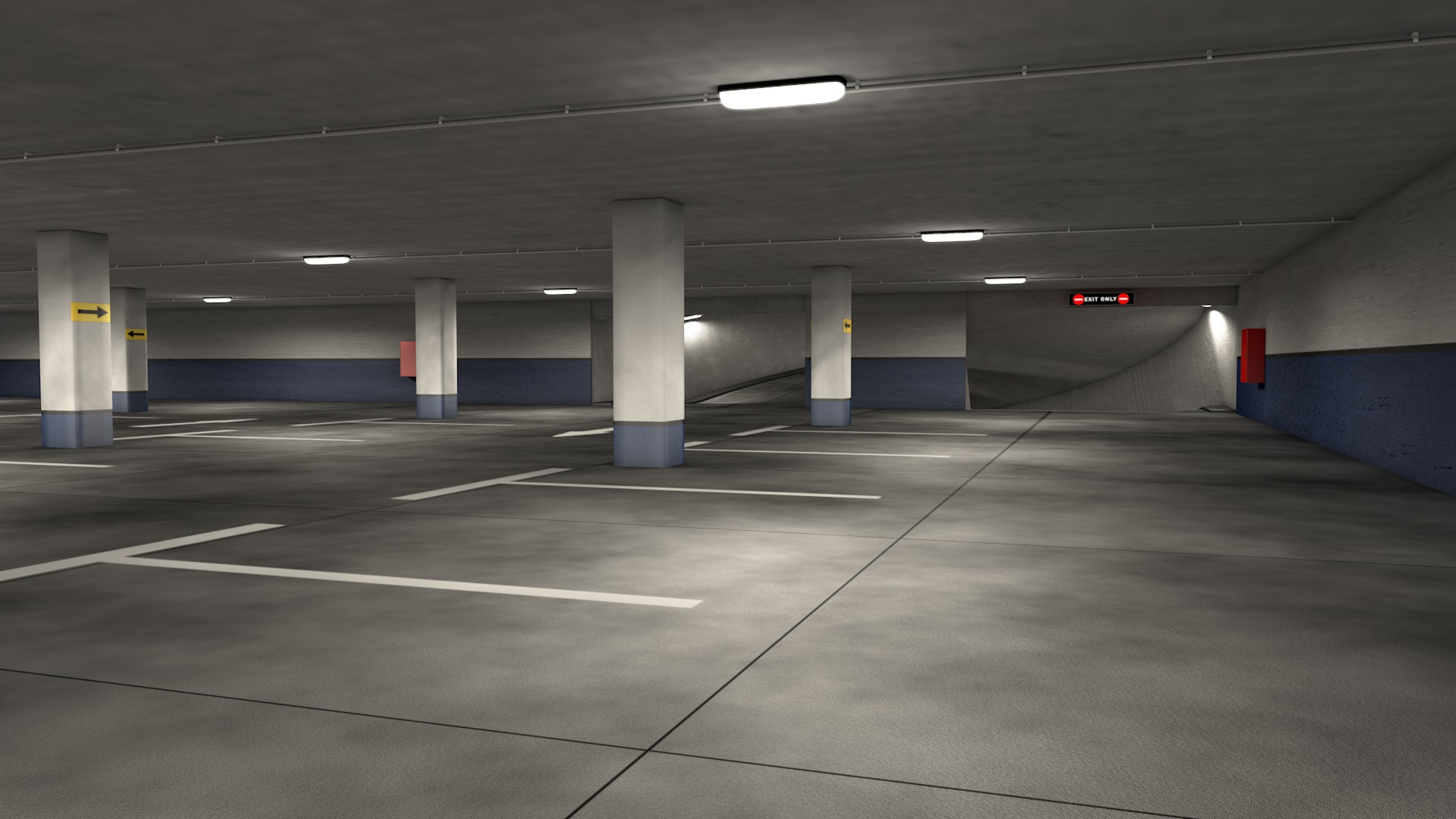 Parking Garage By 3dtreatment 3docean