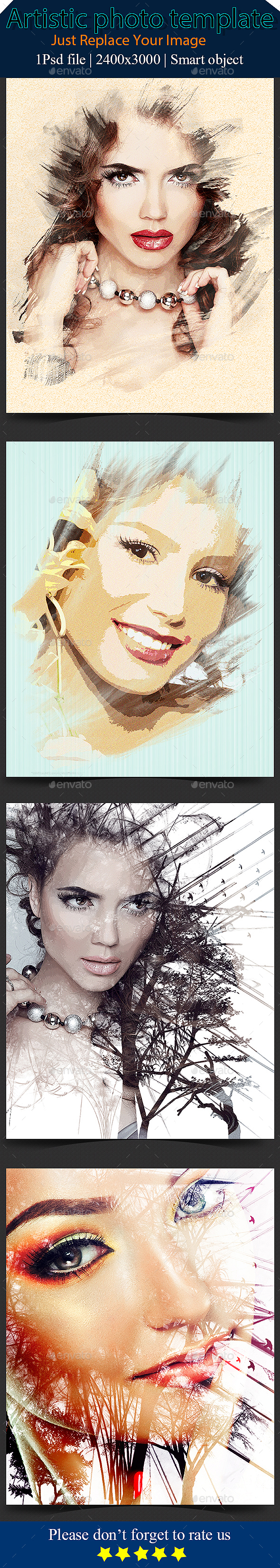 Splatter Dispersion Photo Template (Artistic)