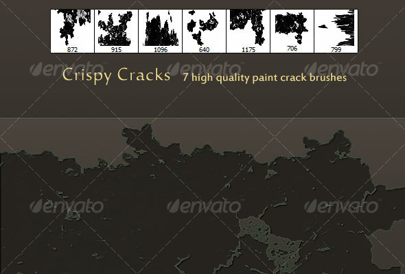 GraphicRiver Crispy Cracks High Quality Paint crack brush set 61830