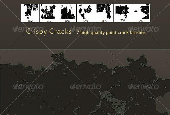 GraphicRiver Crispy Cracks High Quality Paint crack brush set 61830