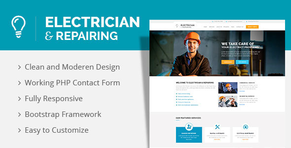 Electrician & Repairing HTML Template