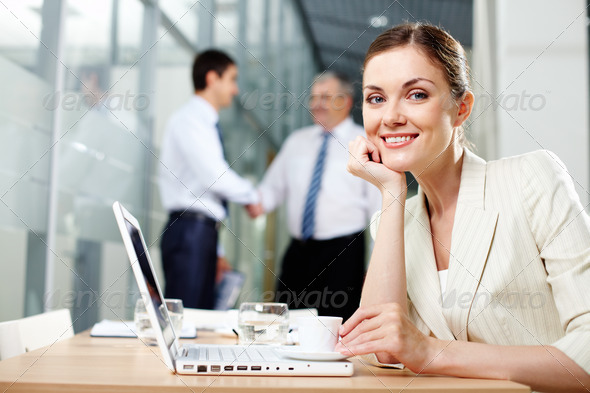 Pretty secretary - Stock Photo - Images
