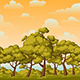 Parallax Background for Games with Trees